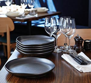 Santo Alessi crafted ceramic in use in the kitchen