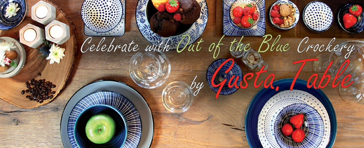 Gusta Table is a stunning tableware range to suit any occasion