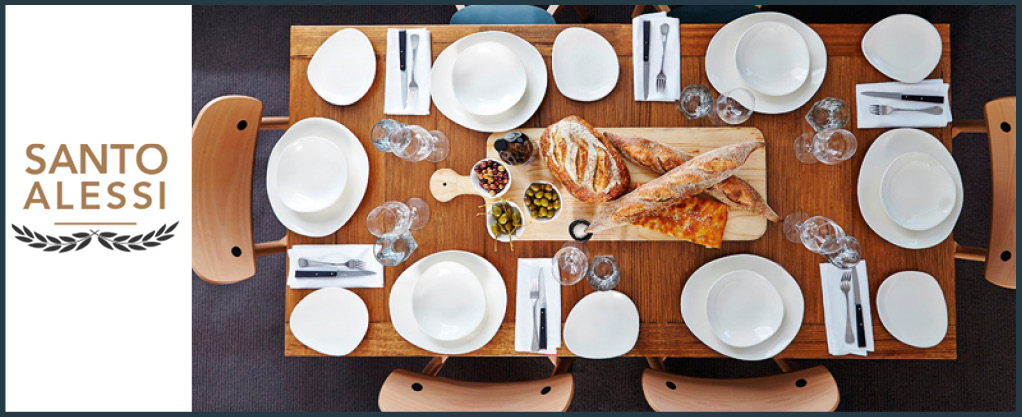 Santo Alessi is a new brand of unique hand made bowls plates and platters